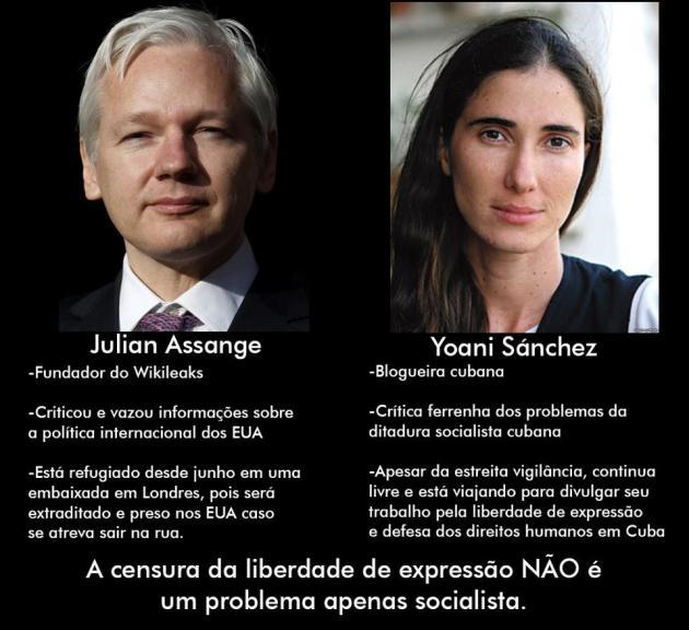 Assange facebook Gabriel Bueno