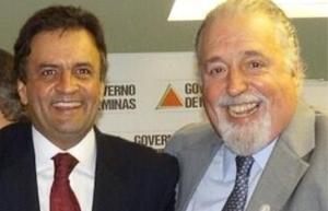 Os tucanos Aécio Neves e o deputado Mosconi