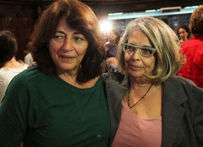 historiadora Dulce Pandolfi e a cineasta Lúcia Murat